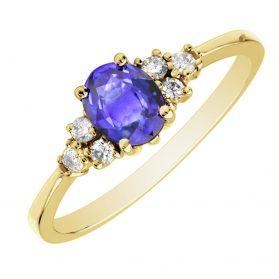 Tanzanite Diamond Ring